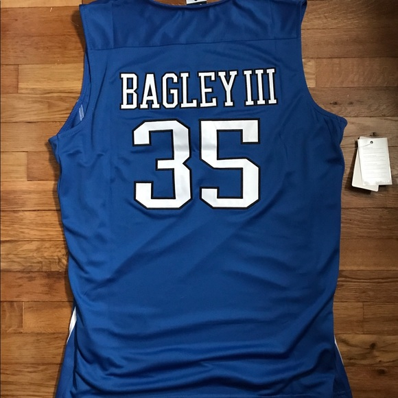 cc9b0144576f NWT Marvin Bagley III DUKE Blue Devils Jersey L